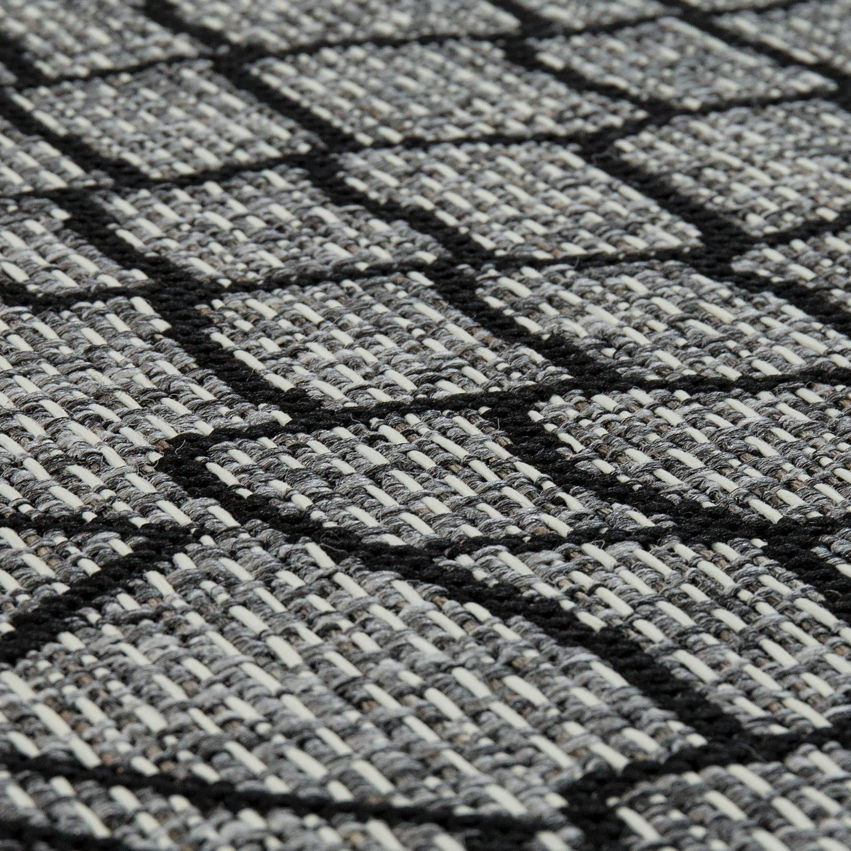 in outdoor teppich maya muster silber grau teppiche sisal optik. Black Bedroom Furniture Sets. Home Design Ideas