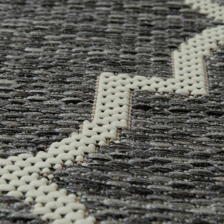 in outdoor teppich marokkanisches muster grau design. Black Bedroom Furniture Sets. Home Design Ideas