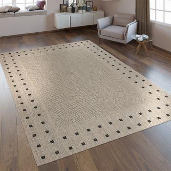 Flachgewebe Teppich Bordüre Grau – Bild 1