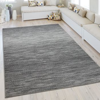 Modern Short Pile Rug One Colour Grey
