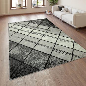 Designer Rug Geometric Pattern Grey – Bild 1