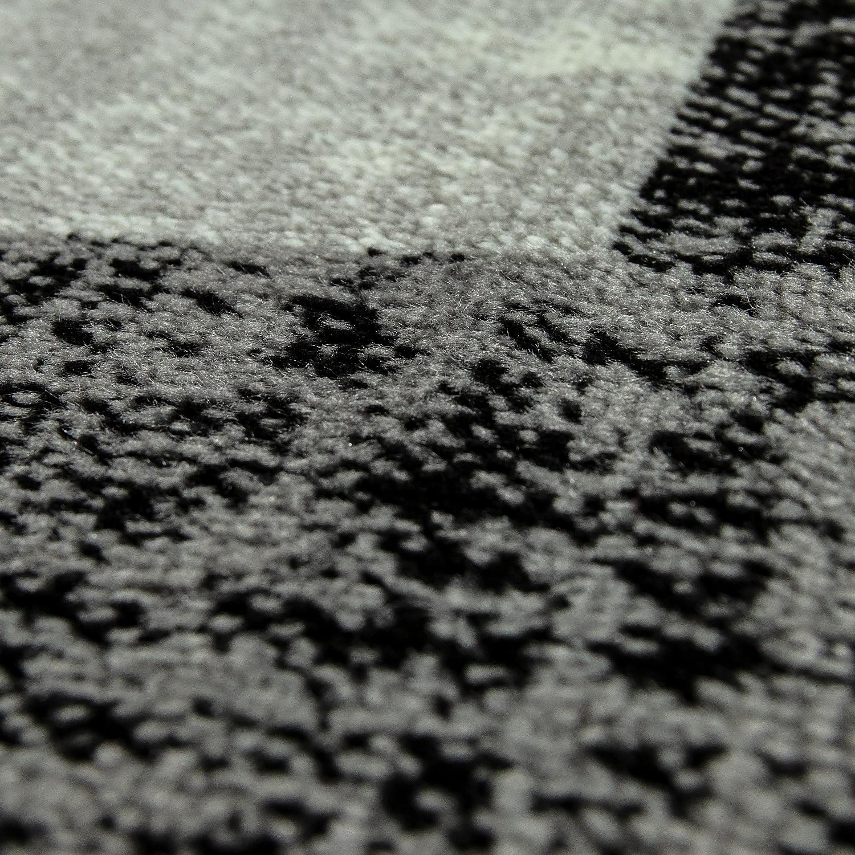 designer wohnzimmer teppich modern kurzflor karo muster schwarz grau wei teppiche kurzflor teppiche. Black Bedroom Furniture Sets. Home Design Ideas