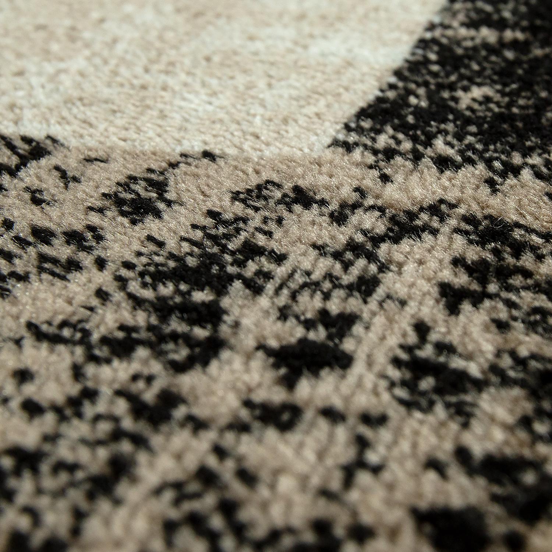 designer wohnzimmer teppich modern kurzflor karo muster braun beige creme teppiche kurzflor teppiche. Black Bedroom Furniture Sets. Home Design Ideas