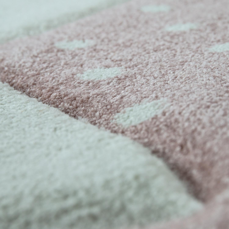 kinderteppich grinsekatze pastell rosa kinder teppiche. Black Bedroom Furniture Sets. Home Design Ideas