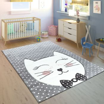 Children's Rug Cheshire Cat Pastel Pink – Bild 1