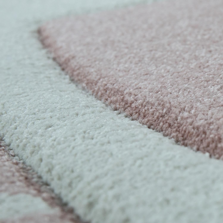 tapis pour enfant lapin mignon pastel rose tapis enfants. Black Bedroom Furniture Sets. Home Design Ideas