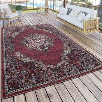 In- & Outdoor Teppich Orient Optik Bordeaux Rot