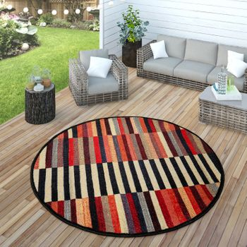 Indoor & Outdoor Rug Colourful Boho Stripes – Bild 4