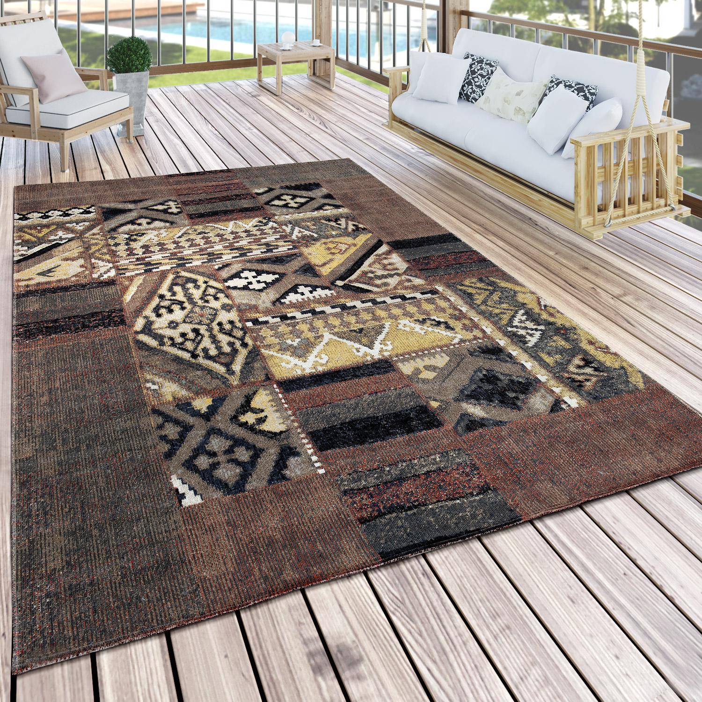 in outdoor teppich mustermix braun beige gr n design teppiche. Black Bedroom Furniture Sets. Home Design Ideas