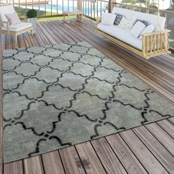 Indoor & Outdoor Rug Moroccan Pattern Grey – Bild 1