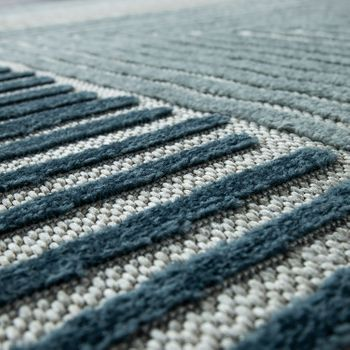 Indoor & Outdoor Rug Geometric Turquoise Grey – Bild 3
