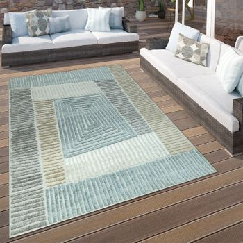 Indoor & Outdoor Rug Geometric Beige Grey – Bild 1