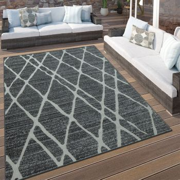 Indoor & Outdoor Rug Diamonds Brown Beige – Bild 1