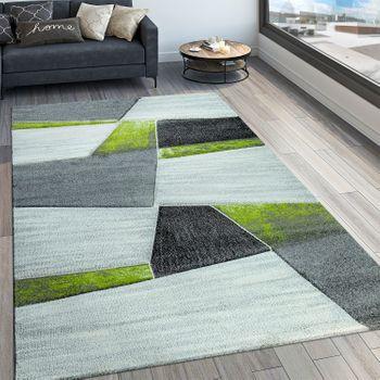 Designer Teppich Geometrisches Muster Grün