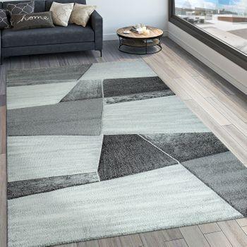 Tappeto di design motivo geometrico grigio – Bild 1
