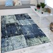 Rug Oil Painting Look Indigo Blue Grey 001