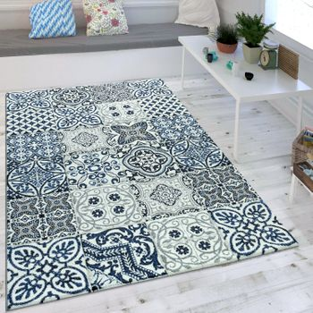 Teppich Modernes Orient Muster Blau Grau