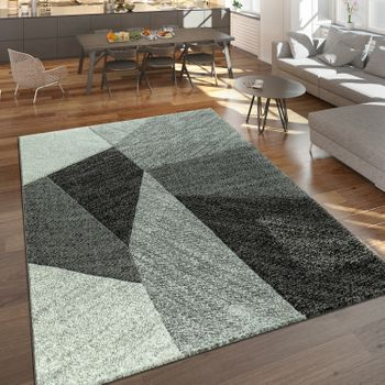 Short Pile Rug Knit Look Grey – Bild 1