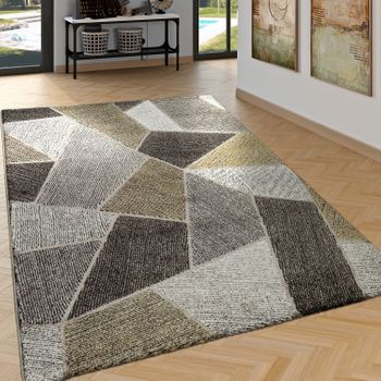 Rug High Low Effect Diamonds Yellow – Bild 1