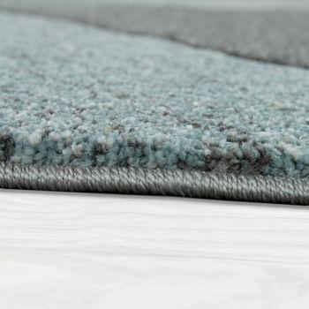 Rug 3D Cord Look Pastel Trend Grey Turquoise – Bild 2