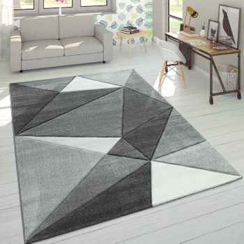 Rug 3D Triangles Pastels Trend Grey – Bild 1