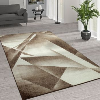 Rug Modern Geometric Patterns Cream Beige – Bild 1