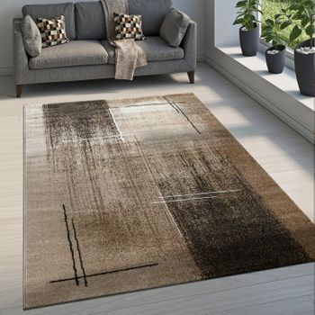 Elegant Designer Rug Abstract Pattern Brown – Bild 1