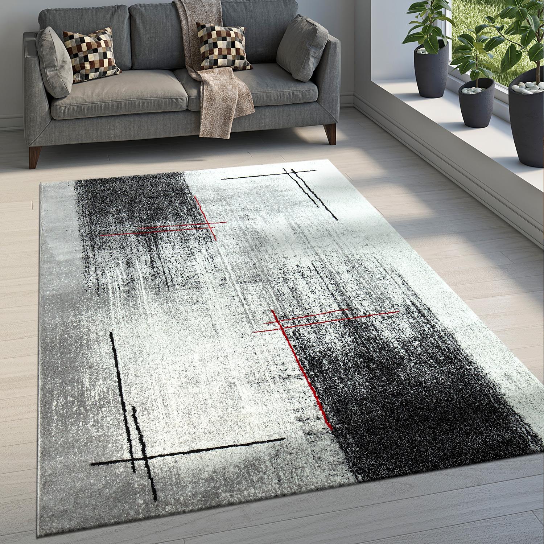 edler designer teppich abstraktes muster grau design teppiche. Black Bedroom Furniture Sets. Home Design Ideas