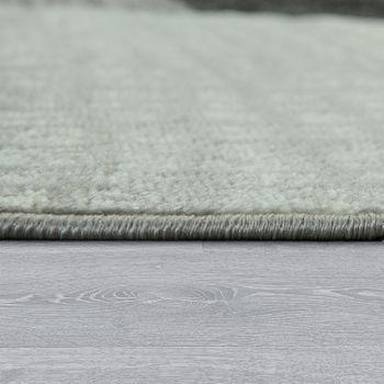 Designer Wohnzimmer Teppich Modern Kurzflor Karo Design Grau Schwarz Weiß – Bild 2