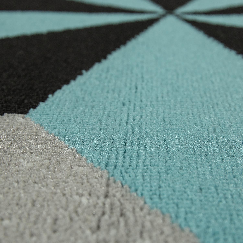 designer teppich stern motiv blau grau kinder teppiche. Black Bedroom Furniture Sets. Home Design Ideas