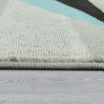 Tappeto di design motivo a stella blu e grigio – Bild 2