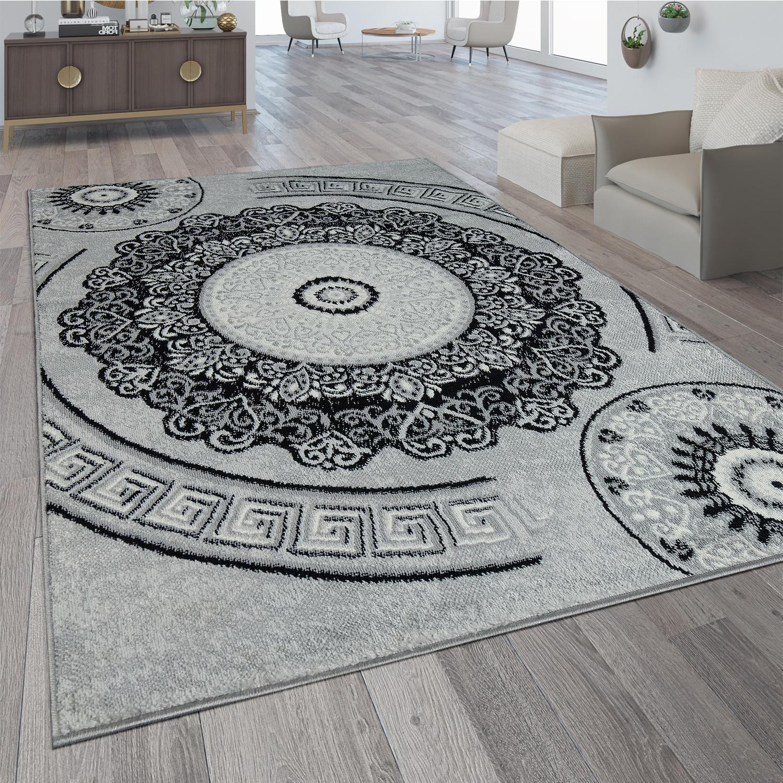 designer teppich mandala motiv grau teppichcenter24. Black Bedroom Furniture Sets. Home Design Ideas