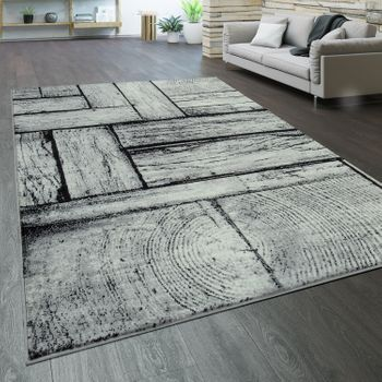 Designer Rug Wood Effect Grey – Bild 1