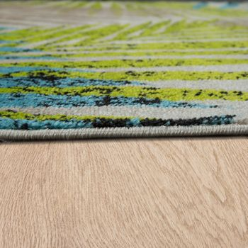 Rug Urban Jungle Beige Green Blue – Bild 2