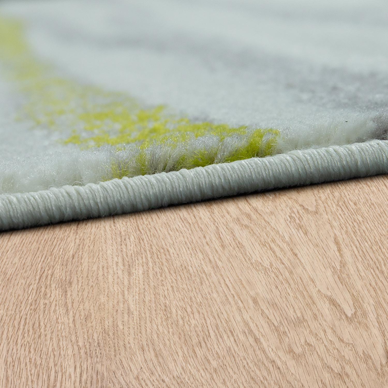 Designer Teppich Wohnzimmer Modernes Wellen Design In Creme Grün ...