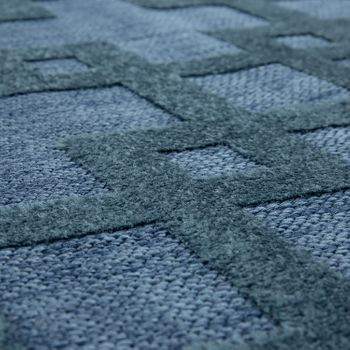 Indoor & Outdoor Rug Crosses Pattern Blue – Bild 2