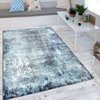 Wohnzimmer Teppich Indigo Blau Trend Modern Maritimer Stil Shabby Chic Design – Bild 1