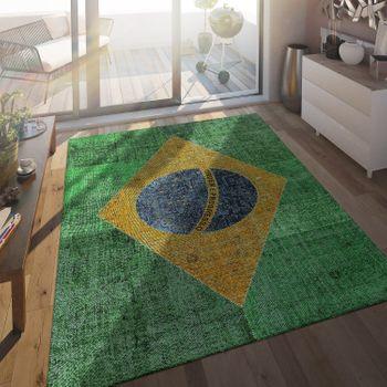 Flachgewebe Teppich Brasilianische Flagge – Bild 1