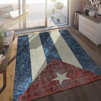 Flachgewebe Teppich Kubanische Flagge – Bild 1