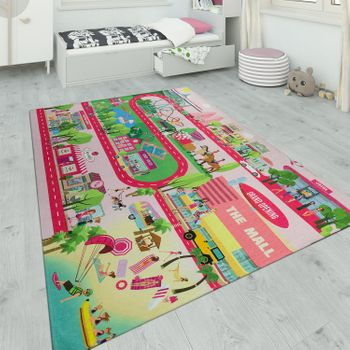 Children's Rug Playroom Road With Horses – Bild 1
