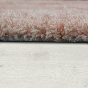 Hochflorteppich Einfarbig Pink – Bild 2