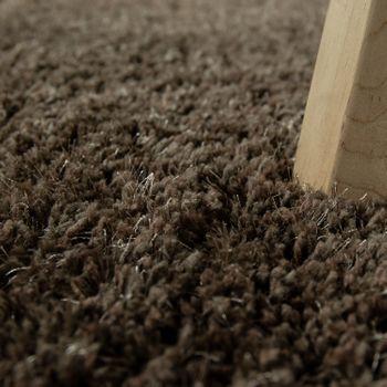 Hochflorteppich Einfarbig Braun – Bild 3