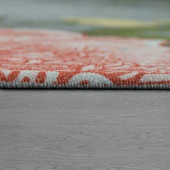 Design-tapijt patroon met rozen en vlinder zilver grijs – Bild 2