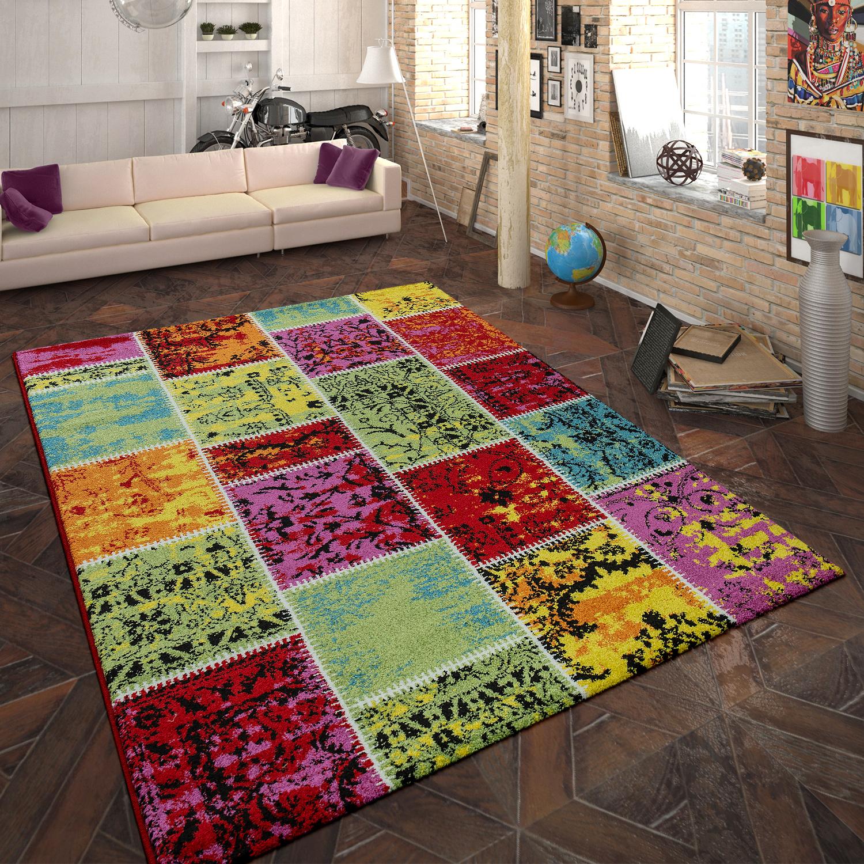 designer teppich patchwork muster multicolor. Black Bedroom Furniture Sets. Home Design Ideas