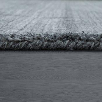 Kurzflor Teppich Einfarbig Modern Silber – Bild 2