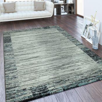 Designer Teppich Bordüre Farbverlauf Silber Grau – Bild 1