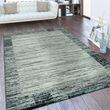 Designer Teppich Bordüre Farbverlauf Silber Grau 001