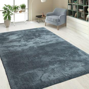 Hochflor Shaggy Teppiche Einfarbig Grau – Bild 1
