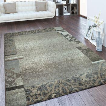 Designer Teppich Bordüre Taupe – Bild 1