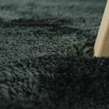 Handgetuftet Hochflorteppich Einfarbig Soft Anthrazit – Bild 3